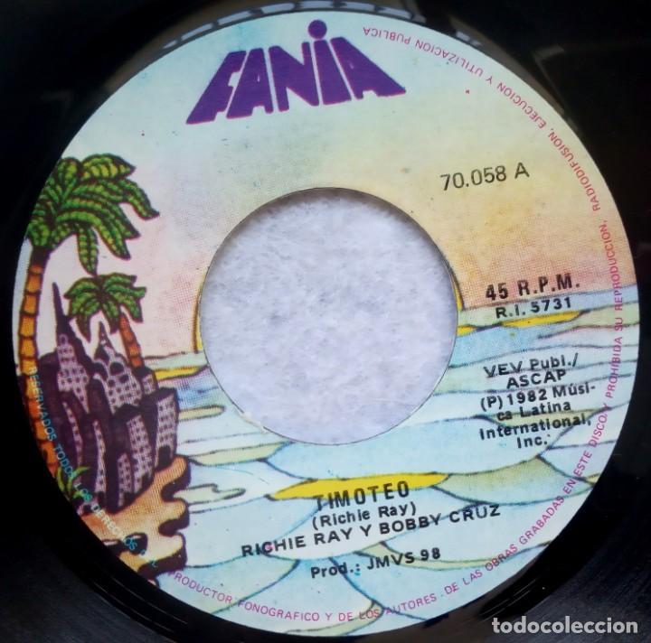 RICARDO REY & BOBBY CRUZ - TIMOTEO / QUEDATE DONDE ESTAS - SINGLE PERUANO 1982 - FANIA - SALSA (Música - Discos - Singles Vinilo - Grupos y Solistas de latinoamérica)