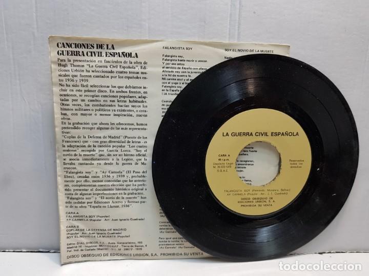 Discos de vinilo: SINGLE-CANCIONES DE LA GUERRA CIVIL-SOY EL NOVIO DE LA MUERTE en funda original año 1978 - Foto 3 - 183718547