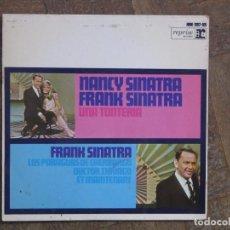 Discos de vinilo: NANCY SINATRA, FRANK SINATRA. UNA TONTERIA; DOCTOR ZHIVAGO; ET MAINTENANT... ESPAÑA, 1967. VG+. VG+.. Lote 183718828