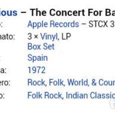 Discos de vinilo: THE CONCERT FOR BANGLA DESH, BOX DE 3 LPS, EDICION ESPAÑOLA. Lote 183718922