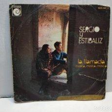 Discos de vinilo: SINGLE-SERGIO Y ESTIBALIZ-LA LLAMADA EN FUNDA ORIGINAL AÑO 1975. Lote 183719028
