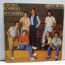 Discos de vinilo: SINGLE-MOCEDADES Y PLACIDO DOMINGO-MAITECHUMIA EN FUNDA ORIGINAL AÑO 1983. Lote 183719885