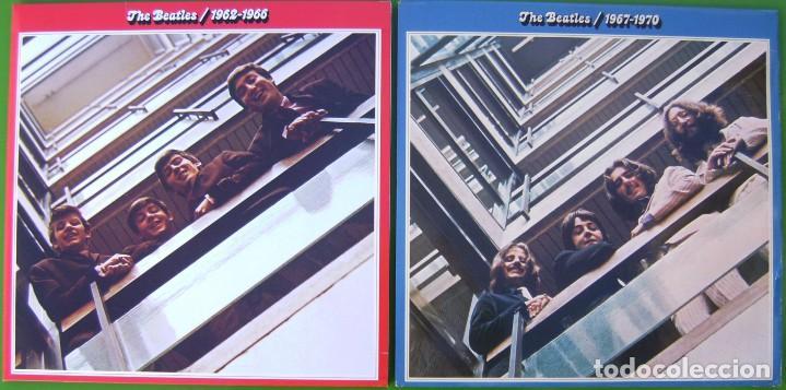 LOTE THE BEATLES - LPS DOBLES ROJO Y AZUL (1962-1966 Y 1967-1970) (Música - Discos - Singles Vinilo - Pop - Rock Extranjero de los 50 y 60)
