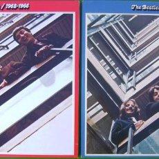 Discos de vinilo: LOTE THE BEATLES - LPS DOBLES ROJO Y AZUL (1962-1966 Y 1967-1970). Lote 183724067