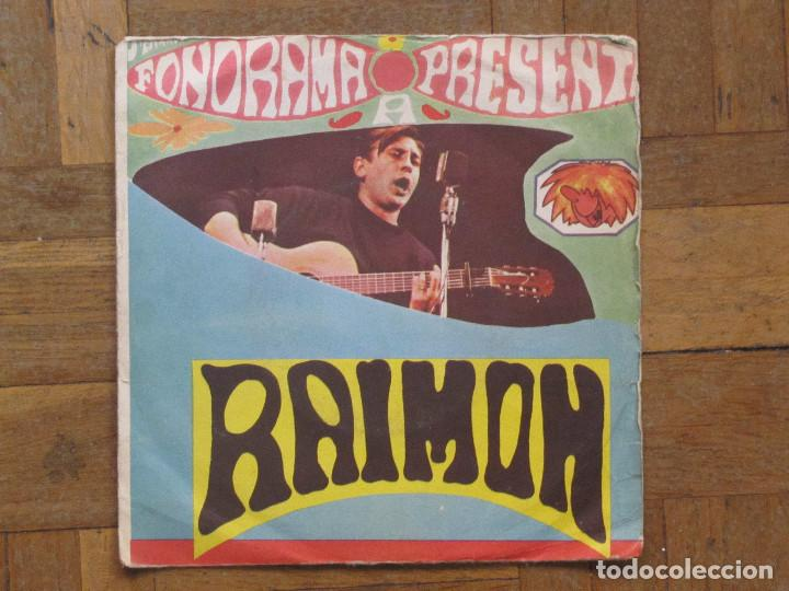 RAIMON. AHIR; CANÇÓ D'AMOR Nº. PROMOCIONAL. ESPAÑA, 1963. FUNDA G. DISCO VG+. (Música - Discos - Singles Vinilo - Solistas Españoles de los 50 y 60)