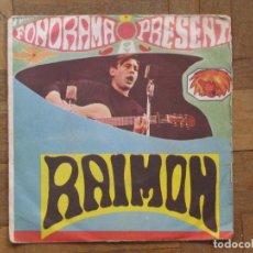Discos de vinilo: RAIMON. AHIR; CANÇÓ D'AMOR Nº. PROMOCIONAL. ESPAÑA, 1963. FUNDA G. DISCO VG+.. Lote 183726895