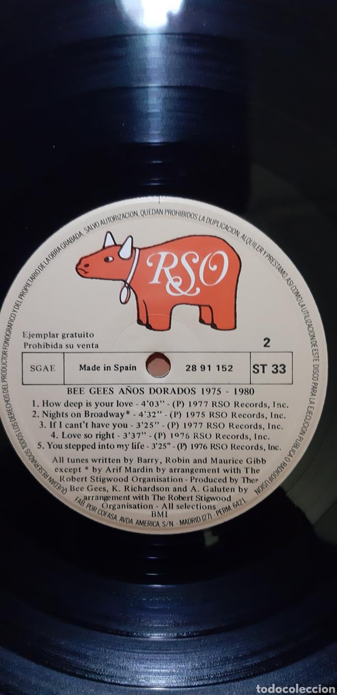 Discos de vinilo: BEEGEES. AÑOS DORADOS . RSO ESPAÑA. - Foto 2 - 183727455