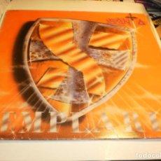 Discos de vinilo: LP SANTA. TEMPLARIO. CHAPA DISCOS 1986 CON DEDICATORIA DE LEONOR (PROBADO, BIEN, LEER, BUEN ESTADO). Lote 183729765