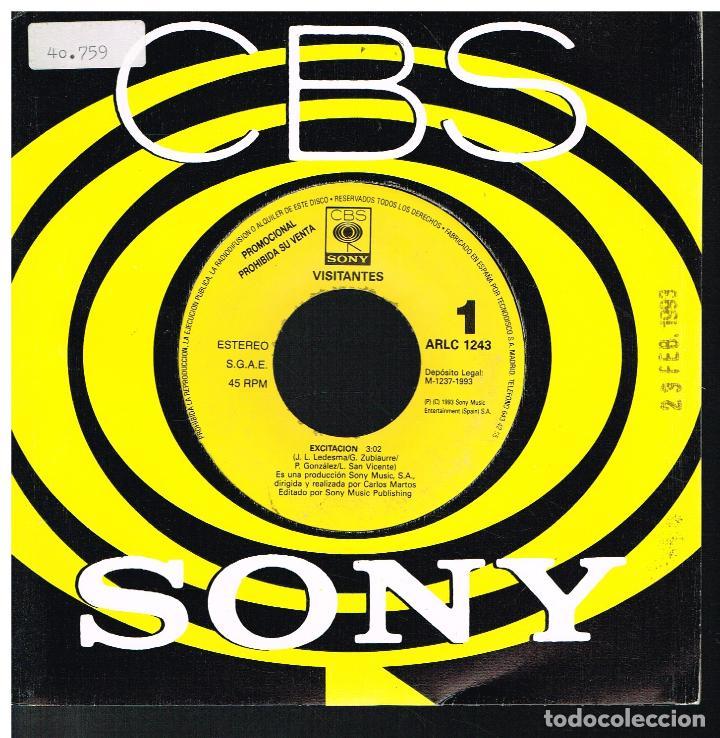 VISITANTES - EXCITACION - SINGLE 1993 - PROMO (Música - Discos - Singles Vinilo - Pop - Rock Extranjero de los 90 a la actualidad)