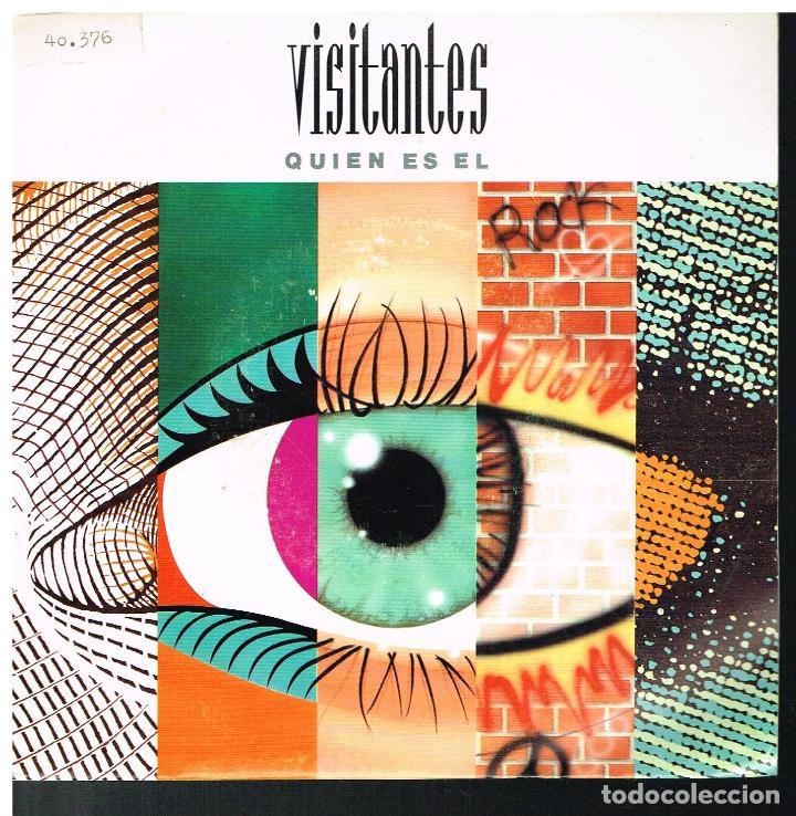 VISITANTES - QUIEN ES EL? - SINGLE 1992 - PROMO (Música - Discos - Singles Vinilo - Pop - Rock Extranjero de los 90 a la actualidad)