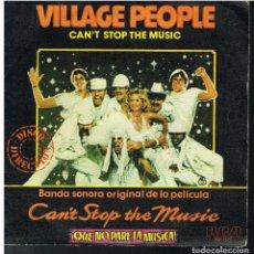 Discos de vinilo: VILLAGE PEOPLE - CAN'T STOP THE MUSIC / MILKSHAKE - SINGLE 1980. Lote 183733466