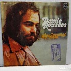 Discos de vinilo: SINGLE-DEMIS ROUSSOS-WHEM I AM KID MY REASON EN FUNDA ORIGINAL AÑO 1972. Lote 183734703