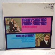 Discos de vinilo: SINGLE-FRANK Y NANCY SINATRA-UNA TONTERÍA EN FUNDA ORIGINAL AÑO 1967. Lote 183740012