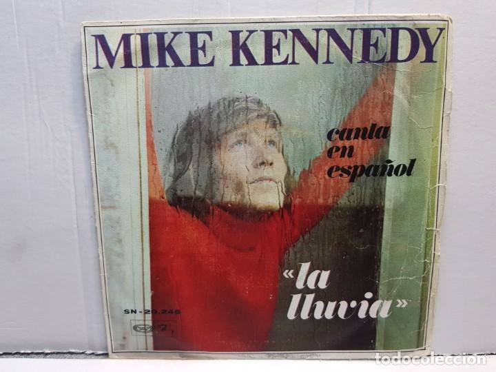 SINGLE-MIKE KENNEFY -LA LLUVIA EN FUNDA ORIGINAL AÑO 1969 (Música - Discos - Singles Vinilo - Pop - Rock - Internacional de los 70)