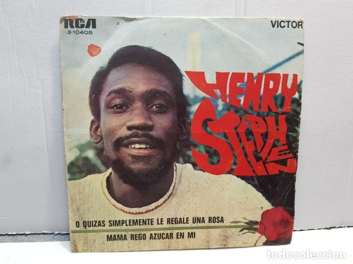 SINGLE-HENRY STEPHEN -O QUIZAS SIMPLEMENTE LE REGALE UNA ROSA EN FUNDA ORIGINAL AÑO 1969 (Música - Discos - Singles Vinilo - Pop - Rock - Internacional de los 70)