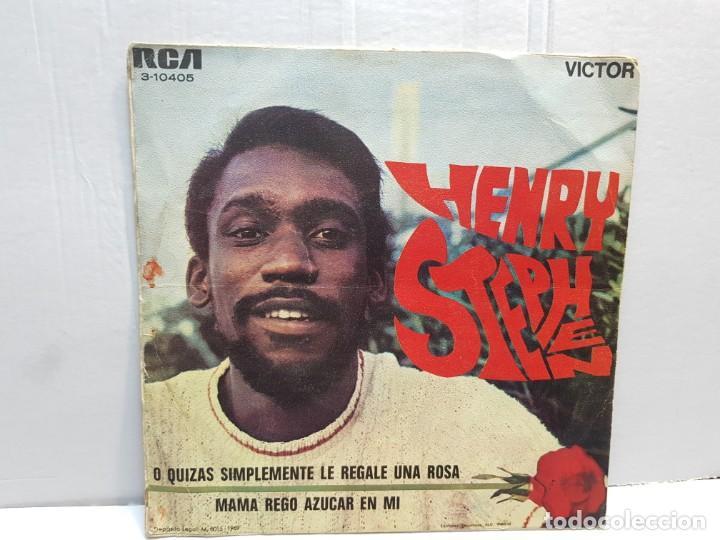 Discos de vinilo: SINGLE-HENRY STEPHEN -O QUIZAS SIMPLEMENTE LE REGALE UNA ROSA en funda original año 1969 - Foto 2 - 183741988