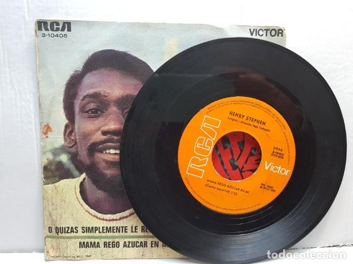 Discos de vinilo: SINGLE-HENRY STEPHEN -O QUIZAS SIMPLEMENTE LE REGALE UNA ROSA en funda original año 1969 - Foto 3 - 183741988