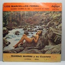 Discos de vinilo: LOS MARCELLOS FERIAL - MARINO MARINI Y SU CUARTETO. Lote 183745652