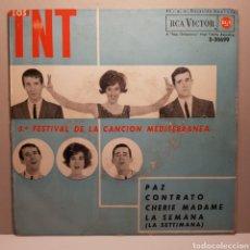 Discos de vinilo: LOS TNT 5° FESTIVAL DE LA CANCION MEDITERRANEA. Lote 183746027