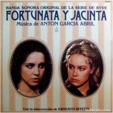 Discos de vinilo: ANTON GARCIA ABRIL - BSO DE LA SERIE DE RTVE FORTUNATA Y JACINTA - LP SPAIN 1980 - HISPAVOX . Lote 183749091