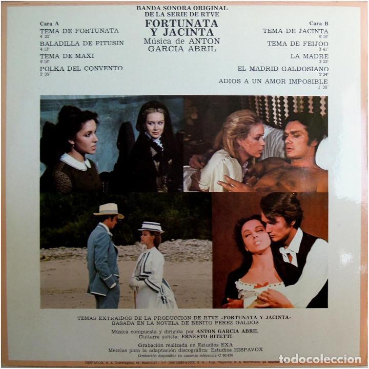 Discos de vinilo: Anton Garcia Abril - BSO de la Serie de RTVE Fortunata y Jacinta - Lp Spain 1980 - Hispavox  - Foto 2 - 183749091