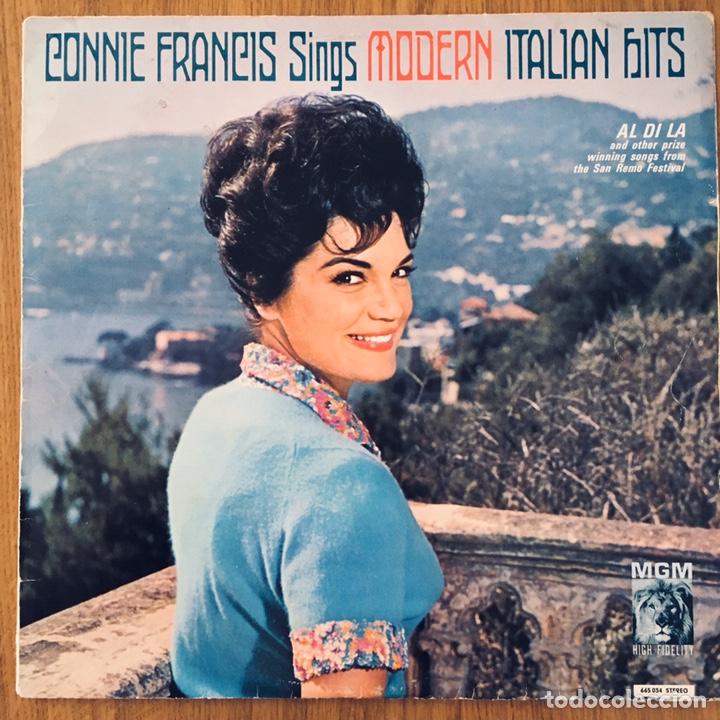 CONNIE FRANCIS SINGS MODERN ITALIAN HITS LP ORIG MGM (Música - Discos - LP Vinilo - Pop - Rock Extranjero de los 50 y 60)
