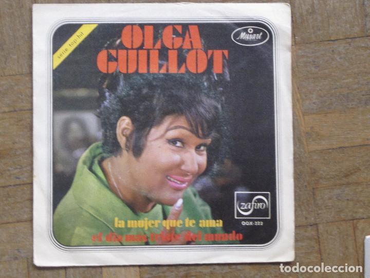 OLGA GUILLOT. LA MUJER QUE TE AMA... ESPAÑA, 1970. FUNDA VG. DISCO VG+ (Música - Discos - Singles Vinilo - Grupos y Solistas de latinoamérica)