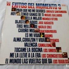 Discos de vinilo: EXITOS DEL MOMENTO 3, LP VINILO 1976.. Lote 183771757