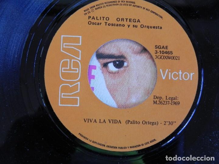 Discos de vinilo: Palito Ortega: Viva la vida / la juventud sabe donde va, Single Victor 3-10465. Spain, 1969. VG+/VG+ - Foto 2 - 183775236