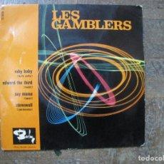 Discos de vinilo: LES GAMBLERS. RUBY BABY; EDWARD THE THIRD; SAY MAMA; STONEWALL. FRANCIA, 1963. FUNDA VG. VG+.. Lote 183775806