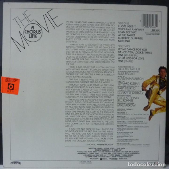 Discos de vinilo: THE MOVIE A CHORUS LINE // 1985 // MADE HOLLAND // PORTADA DOBLE // (VG VG).LP - Foto 2 - 183776275