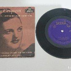 Discos de vinilo: ANITA CERQUETTI, EP, CASTA DIVA + 1, AÑO 1959. Lote 183781263