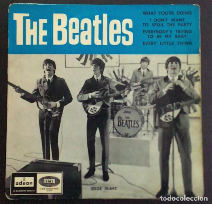THE BEATLES – WHAT YOU'RE DOING ODEON  DSOE 16.642 45 RPM, EP SPAIN 1964 VINILO VG / CARPETA VG (Música - Discos de Vinilo - EPs - Rock & Roll)
