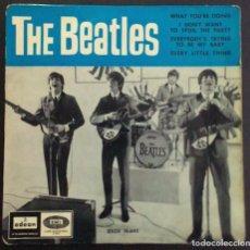 Discos de vinilo: THE BEATLES – WHAT YOU'RE DOING ODEON  DSOE 16.642 45 RPM, EP SPAIN 1964 VINILO VG / CARPETA VG. Lote 183783521