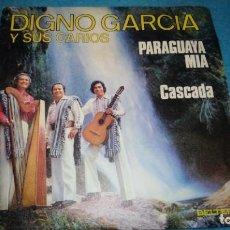 Discos de vinilo: DIGNO GARCIA Y SUS CARIOS SG BELTER 1975 PARAGUAYA MIA/ CASCADA. Lote 183784156