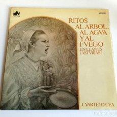 Discos de vinilo: RITOS AL ÁRBOL AL AGUA Y AL FUEGO LLANES ASTURIAS CUARTETO CEA 1978 LP . Lote 183792258