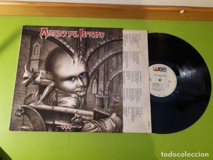 ÁNGELES DEL INFIERNO - 666 - 1988 - CONTIENE INSERT (Música - Discos - LP Vinilo - Heavy - Metal)