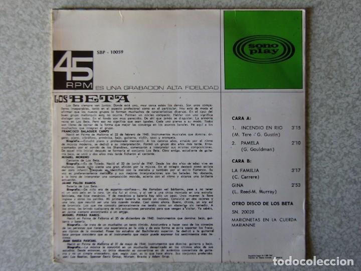 Discos de vinilo: LOS BETA.INCENDIO EN RIO + 3 - Foto 2 - 183808413