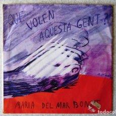 Discos de vinilo: MARIA DEL MAR BONET.QUE VOLEN AQUESTA GENT + 3. Lote 183809960