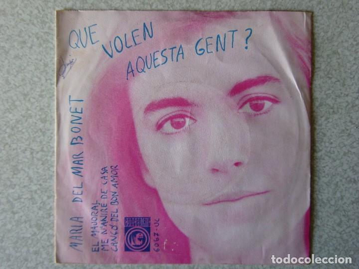 Discos de vinilo: MARIA DEL MAR BONET.QUE VOLEN AQUESTA GENT + 3 - Foto 2 - 183809960