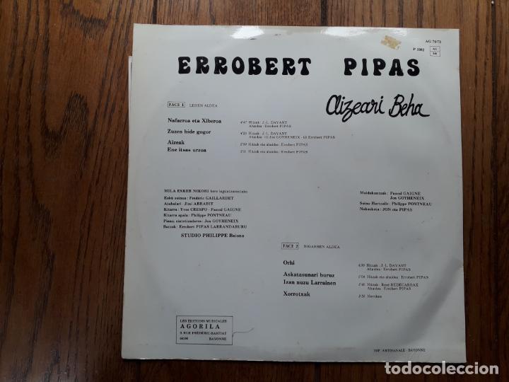Discos de vinilo: Errobert pipas - aizeari beha - Foto 2 - 183815206