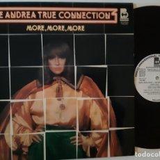Discos de vinilo: THE ANDREA TRUE CONNECTION- MORE, MORE, MORE- SPAIN PROMO LP 1977- WHITE LABEL- COMO NUEVO.. Lote 183823742