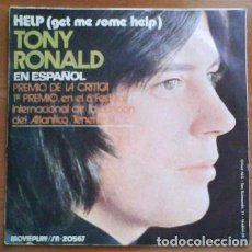 Discos de vinilo: SINGLE : TONY RONALD / HELP. Lote 183827143