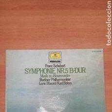 Discos de vinilo: FRANZ SCHUBERT SINFONÍA NÚMERO 5. Lote 183827530