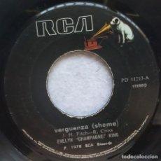 Discos de vinilo: EVELYN CHAMPAGNE KING - SHAME / NADIE SABE - SINGLE PERUANO 1978 - RCA. Lote 183827965
