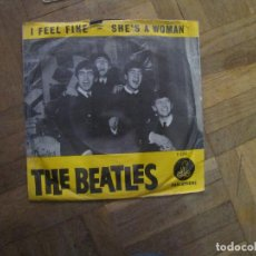 Discos de vinilo: THE BEATLES. I FEEL FINE; SHE'S A WOMAN. PARLOPHONE 7 XCE 18171 R 5200. HOLANDA, 1964. . Lote 183829535