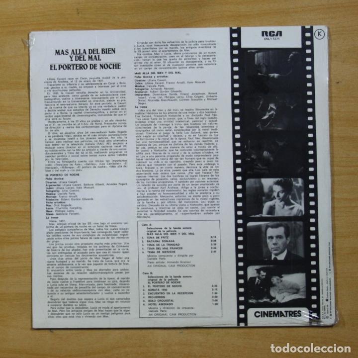 Discos de vinilo: VARIOS - MAS ALLA DEL BIEN Y DEL MAL / EL PORTERO DE NOCHE - LP - Foto 2 - 183831537
