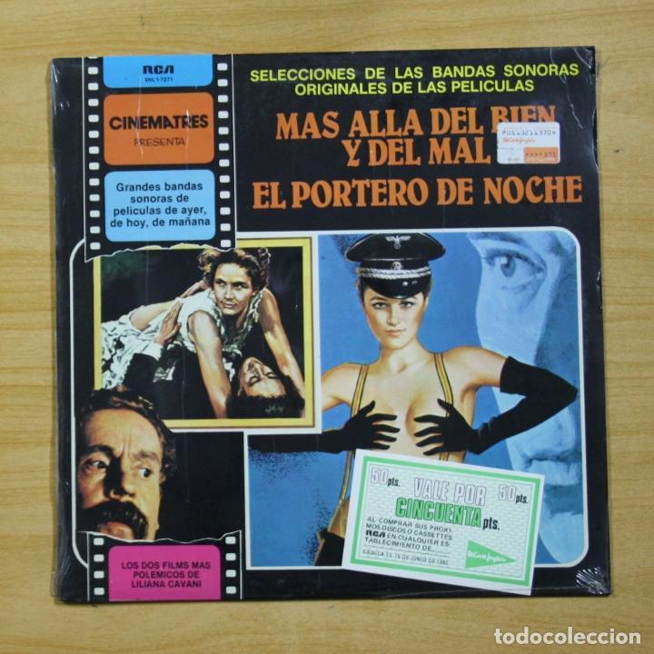 VARIOS - MAS ALLA DEL BIEN Y DEL MAL / EL PORTERO DE NOCHE - LP (Música - Discos - LP Vinilo - Bandas Sonoras y Música de Actores )