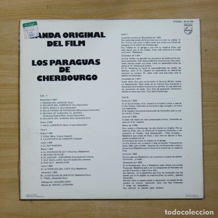Discos de vinilo: VARIOS - LOS PARAGUAS DE CHERBOURGO - LP - Foto 2 - 183831553