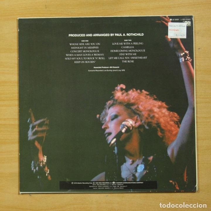 Discos de vinilo: BETTE MIDLER - LA ROSA - LP - Foto 2 - 183831560